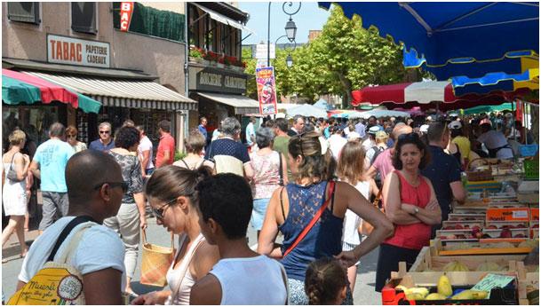Marché de Marcillac-Vallon